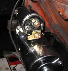 mini starter question chevytalk restoration and repair the gm starter has 3 connections a thin black wire a thin purple wire and the big battery cable black the new one please look at the picture