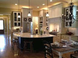 interior open floor plan kitchen dining living room via plans