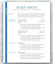 Modern Resume Templates Template For Free Download On Cv Uk
