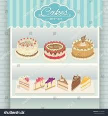 Illustration Vector Various Cakes Menu Display Stock Vector Royalty