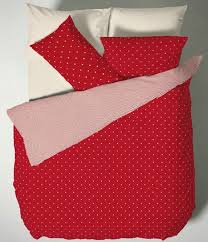 polka dot duvet cover set double bed red