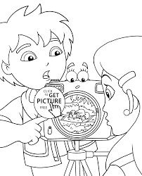 Small Picture Diego Coloring Pages For Kids With Camera Printable Free Camera