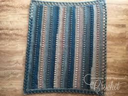 crochet little boy blue baby blanket by jeanne steinhilber