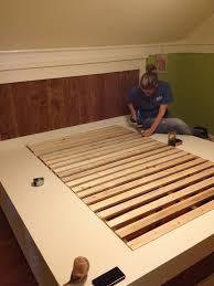 diy king bed frame. Last Step! Adding The Bed Slats Diy King Frame