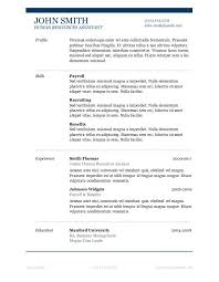 Resume Examples Templates Best 10 Free Microsoft Word Resume