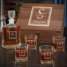 oakhill custom argos decanter whiskey gift set for men with square rocks gles