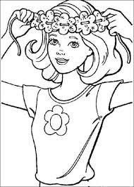 Barbie Bloemenkrans Kleurplaat Gratis Kleurplaten Printen