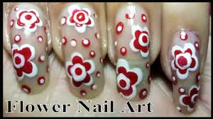 Easy Nail Designs - Best FLOWER NAIL ART Tutorial Using Dotting ...