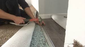 how to install a carpet to vinyl transition strip on concrete