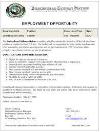 brokenhead ojibway nation job opportunity vlt cashier 12 job opportunity vlt cashier