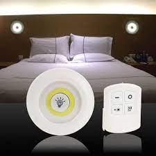 Bộ 3 đèn led cảm ứng mini thông minh kèm điều khiển - Đèn