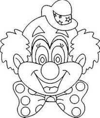Clown Gezicht Kleurplaat Google Zoeken Knutselen Clown