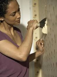 how to paint over wallpaper that has