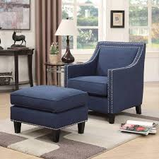 full size of modern chair ottoman navy blue accent chair and ott sofa gallery leather