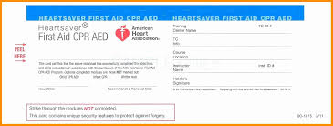 cpr card template professional