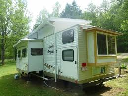 custom tiny house trailer. Once A Store-bought Travel Trailer, Now Custom Tiny House With Walk Trailer
