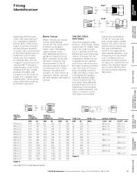 Weatherhead Hydraulic Fittings Chart Hydraulic Fitting Identification Guide And Thread Charts
