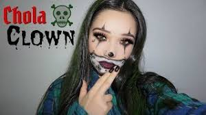 easy chola clown makeup