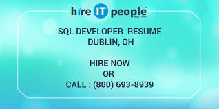 Sql Developer Resumes Sql Developer Resume Dublin Oh Hire It People We Get It Done