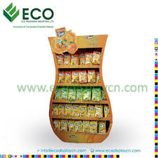 Crisp Display Stand Delectable POP Corrugated Potato Chip Display Stand Crisp Display Display