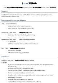 Ccna Certified Resume Format