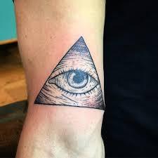Rocksaint Tattoo Triangle Inked Illuminati Eye Tatuaje Ink