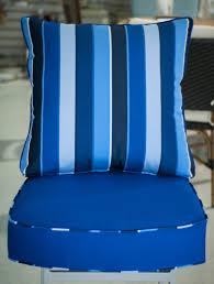 custom indoor chair cushions. Custom Chair Cushion In Sunbrella Canvas True Blue, With A Milano Cobalt Welt And Pillow Indoor Cushions D