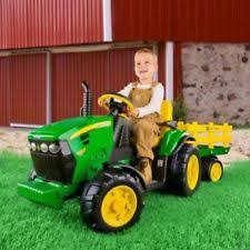 john deere tractor with trailer kids ride on vehicle riding toy 12 volt battery