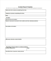 Incident Report Form Template Word Acepeople Co