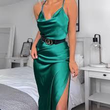 <b>Vestido</b> midi <b>de</b> seda satinada <b>para</b> mujer, Price: $ 8.60 & <b>FREE</b> ...