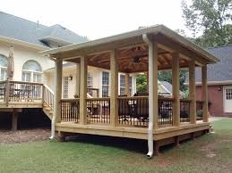 an attached open porch or free standing