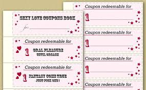 Coupon Book Template For Boyfriend Coupons Revolvedesign