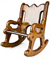 child s solid wood rocking chair stock image image of children isolated 14352789