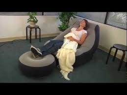 intex inflatable lounge chair. Intex One Person Inflatable Lounge Chair + Ottoman GREY A