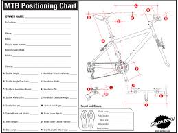 Mtb Positioning Chart Park Tool