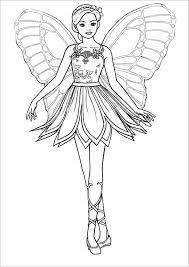 erfly barbie princess colouring page