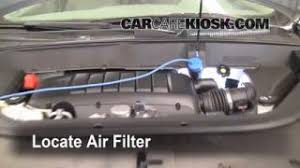 interior fuse box location 2009 2012 chevrolet traverse 2009 2009 2012 chevrolet traverse engine air filter check