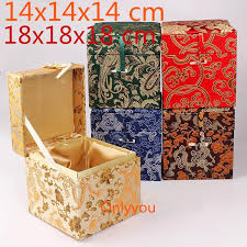 2019 luxury square large wooden jewelry box hardware vintage cube storage box decorative chinese silk fabric collection from qiufenshi 89 63 dhgate com