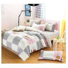 fashion cute 4pcs single twin full double queen size bed quilt duvet cover set sheet shams