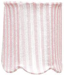 scallop drum chandelier shade pink and white stripe