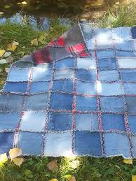 How to Make a Quilt from Old Clothes: Inspiration & More & Quilting with jeans Adamdwight.com