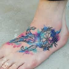 Dream Catcher Foot Tattoo Dreamcatcher Foot Tattoo Artist tattooistsilo Awesome Tattoos 54