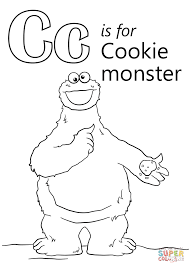Small Picture Letter C is for Cookie Monster coloring page Free Printable
