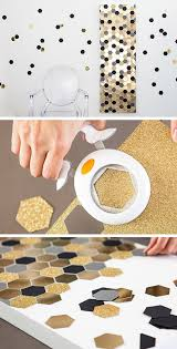 diy decorate with a glitter wall