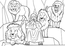 Bible Story Coloring Pages Daniel In The Lions Den Coloringstar