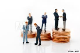 Business Investment Agreements Fascinating Miniature People Businessman Handshake With Coins Stack Investment