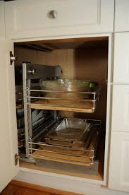 image of pull out kitchen cabinet organizers