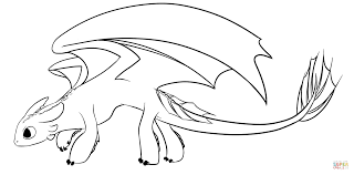 Small Picture Night Fury Coloring Page Night Fury Dragon Coloring Page Free