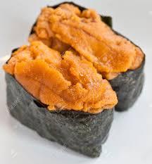 Sea Urchin Eggs Sushi Stock Photo ...