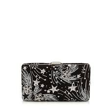Designer Black Suede Clutch Bag Clemmie Jimmy Choo Bags